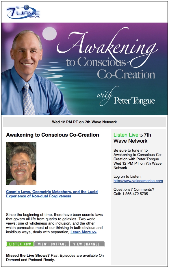 Awakening to Conscious Co-Creation intervew Wed. May 12, 2010 Noon ...