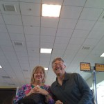 Nancy (& I) waiting for our flight to Denver
